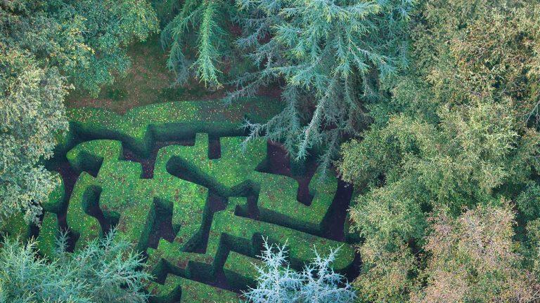 Le labyrinthe du château de la Ballue et ses Jardins